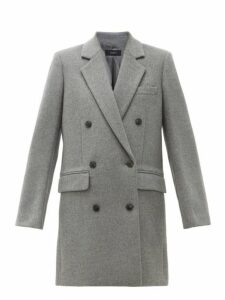 Joseph - Elkins Double Breasted Wool Blend Coat - Womens - Grey