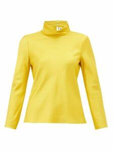 Maison Rabih Kayrouz - High Neck Satin Top - Womens - Yellow