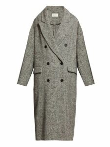 Isabel Marant Étoile - Habra Double Breasted Wool Overcoat - Womens - Light Grey