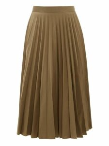 Margaret Howell - Sunray Accordion Pleated Faille Midi Skirt - Womens - Khaki