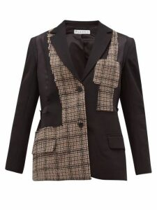 Jw Anderson - Patchwork Tailored Jacket - Womens - Black Multi