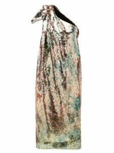 Halpern - One Shoulder Sequinned Midi Dress - Womens - Multi
