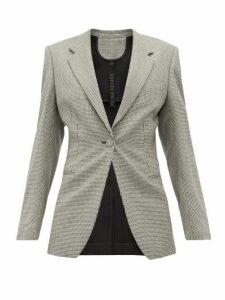 Petar Petrov - Janis Houndstooth Single Breasted Wool Blazer - Womens - Grey Multi