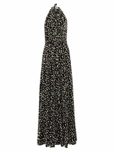 Raquel Diniz - Giovanna Speckle Print Velvet Dress - Womens - White Black
