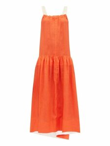 Lee Mathews - Hana Open Back Linen Maxi Dress - Womens - Orange