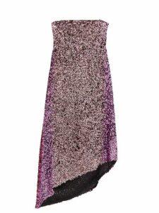 Halpern - Asymmetric Degradé Sequinned Dress - Womens - Pink