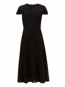 Cefinn - Tiered Voile Midi Dress - Womens - Black