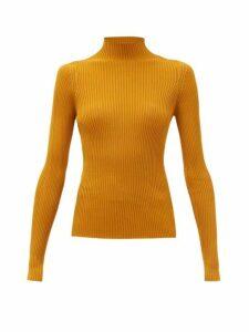 Versace - Medusa Stud Ribbed Top - Womens - Dark Orange