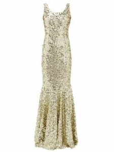 Dolce & Gabbana - Sequinned Fishtail Gown - Womens - Gold