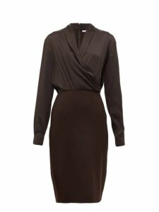 Max Mara - Trento Dress - Womens - Dark Brown