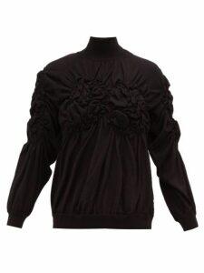 Simone Rocha - Gathered Wool Blend Sweater - Womens - Black