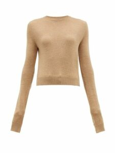 Jil Sander - Round Neck Wool Sweater - Womens - Camel