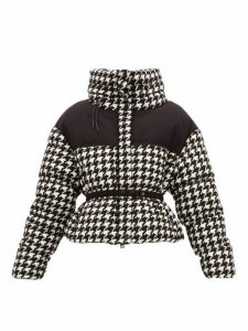 Moncler - Cropped Houndstooth Down Jacket - Womens - Black White