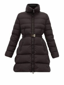 Moncler - Accenteur Quilted Down Coat - Womens - Black