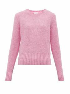 Moncler - Logo Patch Sweater - Womens - Pink