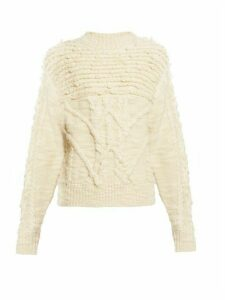 Isabel Marant Étoile - Ryder Cable Knit Sweater - Womens - Ivory