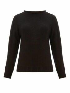 Margaret Howell - Rolled Neckline Cotton Blend Sweater - Womens - Black