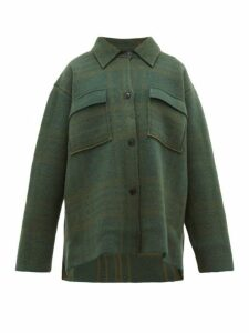 Jacquemus - Maille Oversized Checked Wool Shirt Jacket - Womens - Green