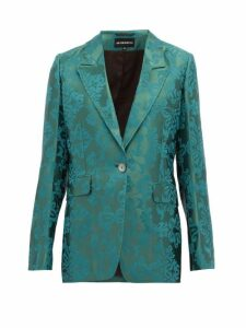 Ann Demeulemeester - Daphne Single Breasted Floral Jacquard Blazer - Womens - Green
