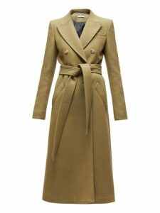 Altuzarra - Bailey Double Breasted Wool Blend Coat - Womens - Dark Green