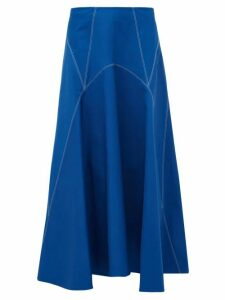 Colville - Panelled Cotton Twill Skirt - Womens - Blue