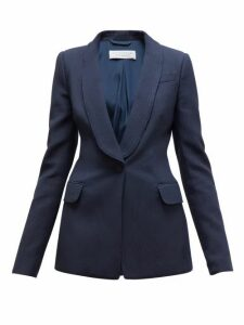 Gabriela Hearst - Caligula Single Breasted Cotton Ottoman Blazer - Womens - Navy
