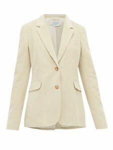 Gabriela Hearst - Sophie Single Breasted Cotton Corduroy Blazer - Womens - Cream
