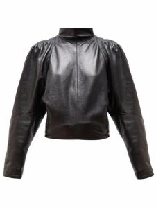Isabel Marant - Caby High Neck Leather Top - Womens - Black