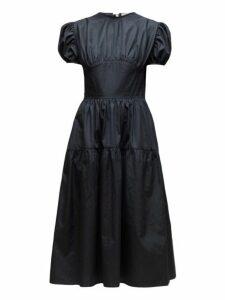 Cecilie Bahnsen - Tia Bow Back Tiered Poplin Dress - Womens - Black