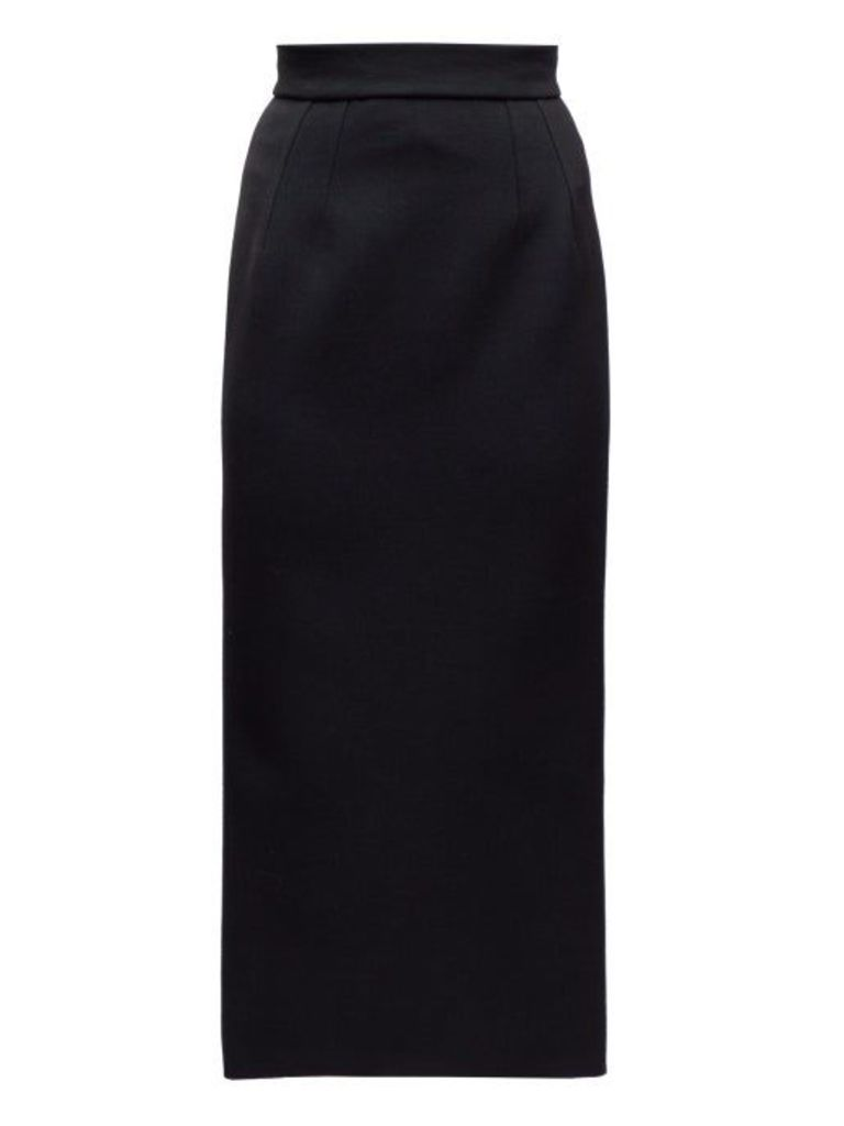 Dolce & Gabbana - Crepe Pencil Skirt - Womens - Black