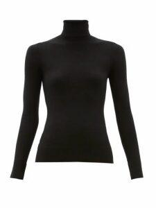 Joostricot - Peachskin Roll Neck Cotton Blend Sweater - Womens - Black