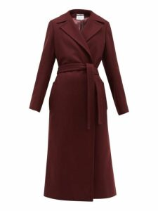 Pallas X Claire Thomson-jonville - Franklin Single Breasted Wool Blend Coat - Womens - Burgundy