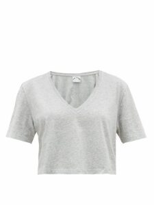 The Upside - Annie Cropped Cotton T Shirt - Womens - Grey