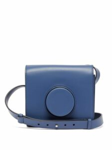 Lemaire - Camera Cross Body Leather Bag - Womens - Blue