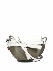Loewe - Gate Small Bi Colour Cross Body Bag - Womens - White Multi