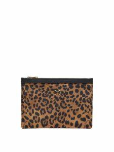 Dolce & Gabbana - Leopard Print Pouch - Womens - Leopard
