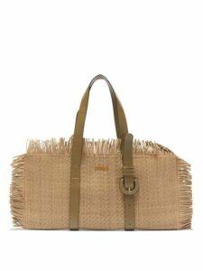 Jacquemus - Les Tresses Fringed Leather Bag - Womens - Khaki