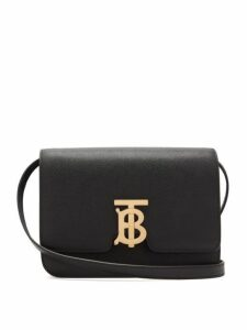 Burberry - Tb Small Pebbled Leather Cross Body Bag - Womens - Black
