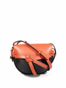 Loewe - Gate Mini Leather Cross Body Bag - Womens - Orange Multi