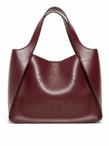 Stella Mccartney - Stella Perforated Logo Faux Leather Tote Bag - Womens - Burgundy