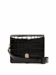 Hillier Bartley - Mini Crocodile Effect Leather Shoulder Bag - Womens - Black