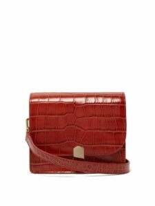 Hillier Bartley - Mini Crocodile Effect Leather Shoulder Bag - Womens - Orange