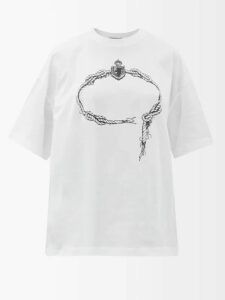 Valextra - Serie S Small Grained Leather Shoulder Bag - Womens - White Multi