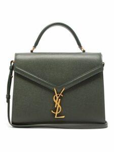 Saint Laurent - Cassandra Leather Shoulder Bag - Womens - Dark Green