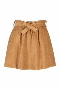 Womens Plus Baby Cord A Line Mini Skirt - beige - 18, Beige