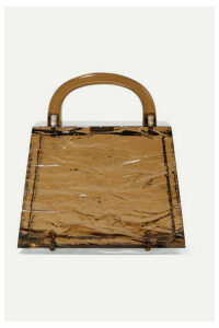 L'AFSHAR - Eva Textured-acrylic Tote - Brown