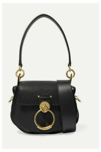 Chloé - Tess Small Textured-leather Shoulder Bag - Black