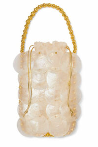 Vanina - Noisette Beaded Shell Tote - Ivory