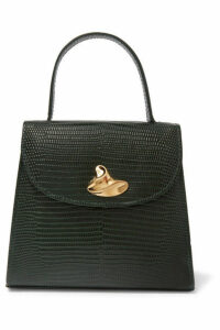Little Liffner - Little Lady Swirl Lizard-effect Leather Tote - Green