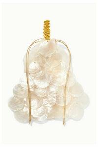 Vanina - Casse Noisette Beaded Shell Tote - Ivory